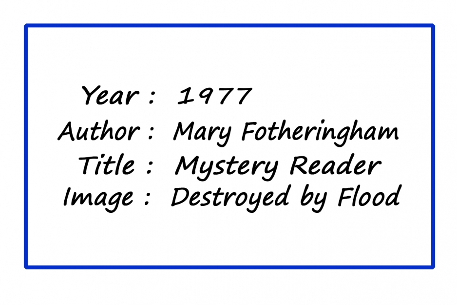 MPoY 1977 Mystery Reader (Mary Fotheringham)