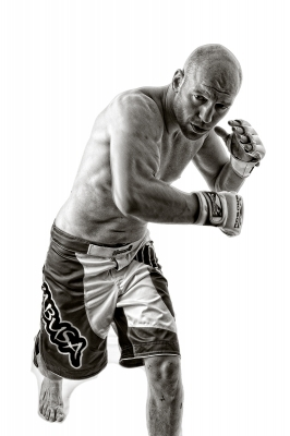 "B Mono 1st	""MMA Fighter"" by Dave Ferguson"