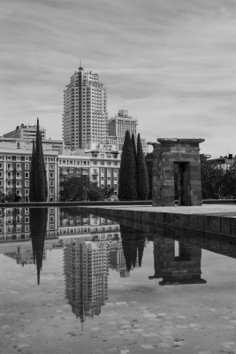 A Section Mono Print 3rd= Madrid Reflection by Davy Miller