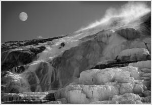 """A"" Mono Prints 1st Afternoon Moon, Yellowstone by Geof Longstaff"