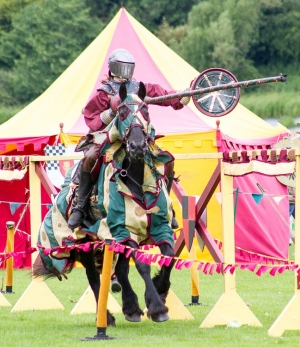 """""""B"""" Projected Digital Image 2nd Linlithgow Joust by Neil George"""