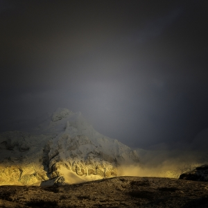 """A"" Colour Print 3rd = Glacier Glow by Iain Jamieson"