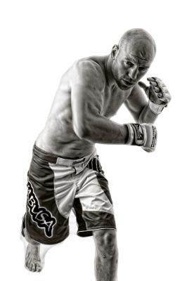 "B Mono 1st""MMA Fighter"" by Dave Ferguson"